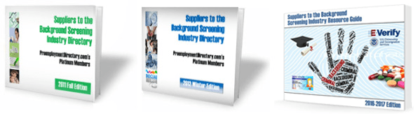 The Suppliers to the Background Screening Industry Buyers Guide