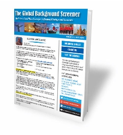 The Global Background Screener