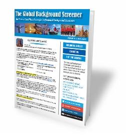 International background screening information