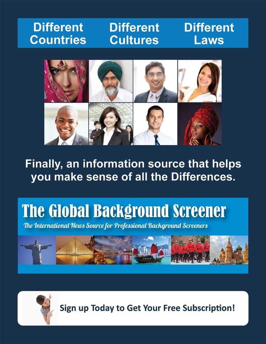 International background screening news