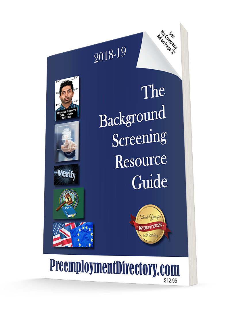 background screening resources