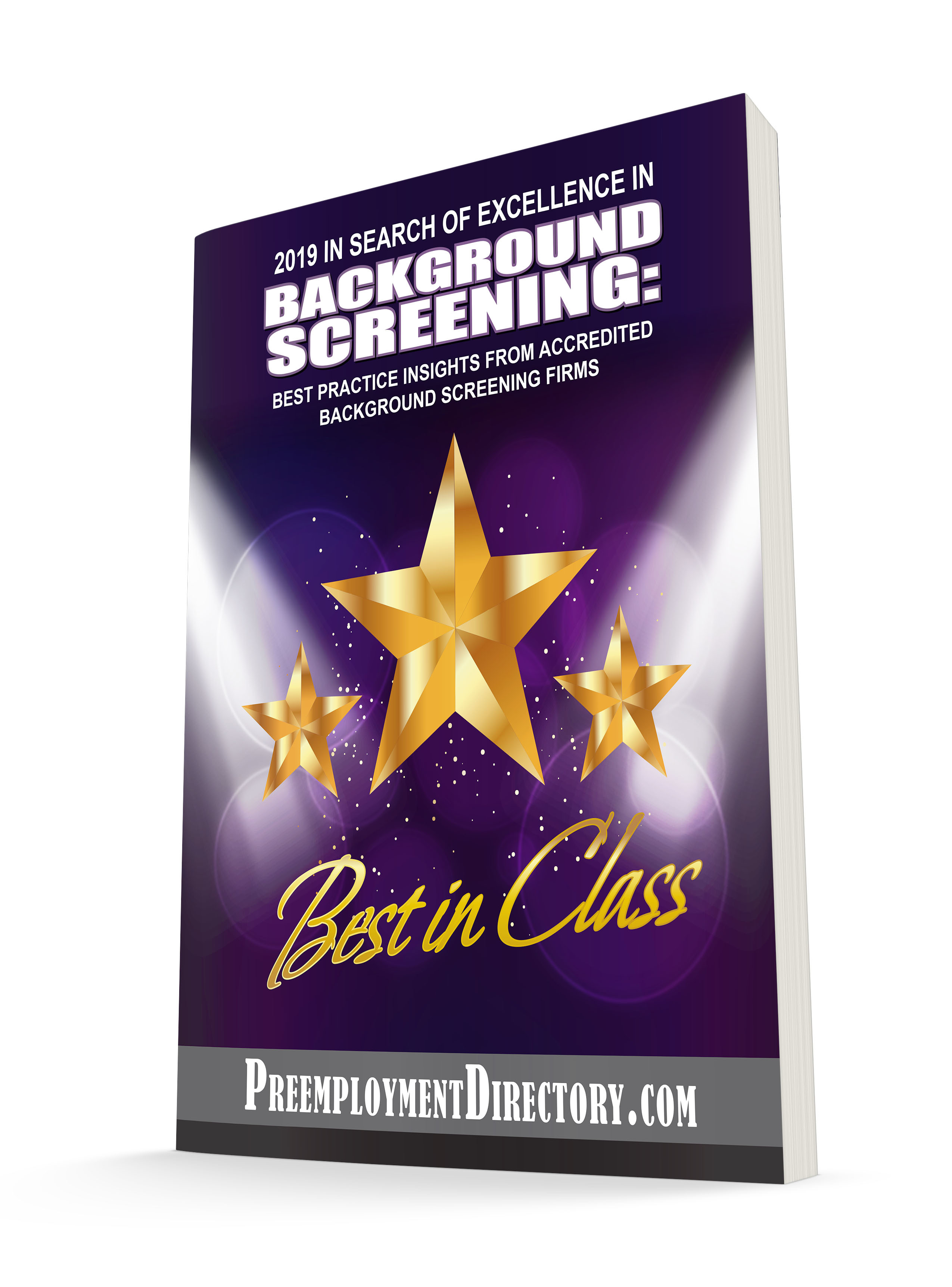 2019 In Search of Excellence in Background Screening Cover Final 3D Cover