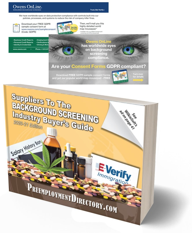 worldwide background checks and publications for the background screening industry