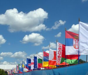 Europe Continent flags